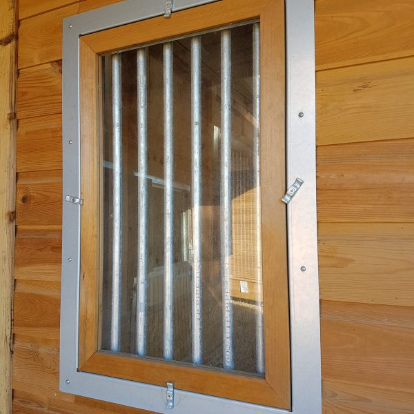 Window With Chew Strips